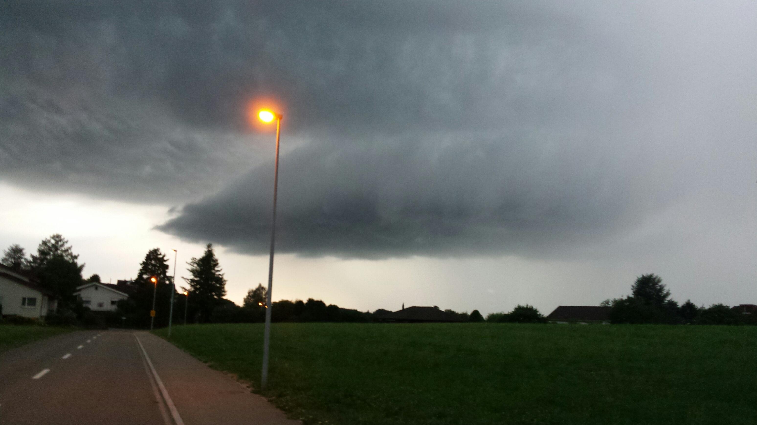 Bedrohliche Gewitterwolke in Richtung Thurgau