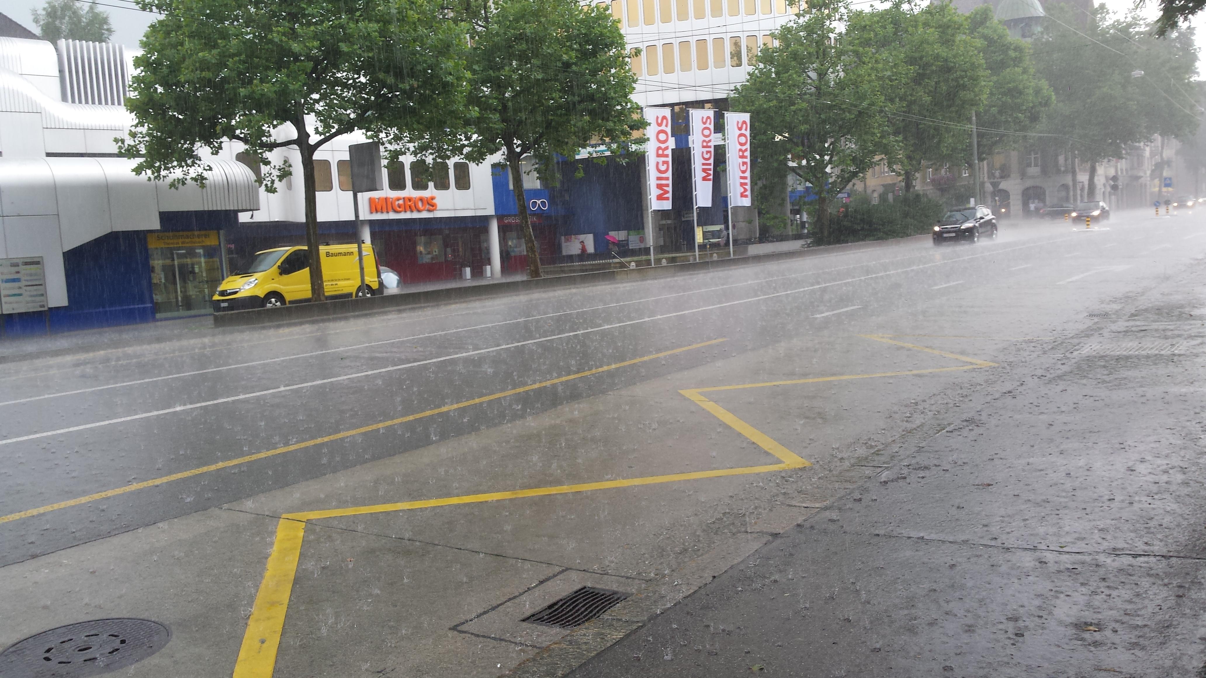 Platzregen St.Gallen