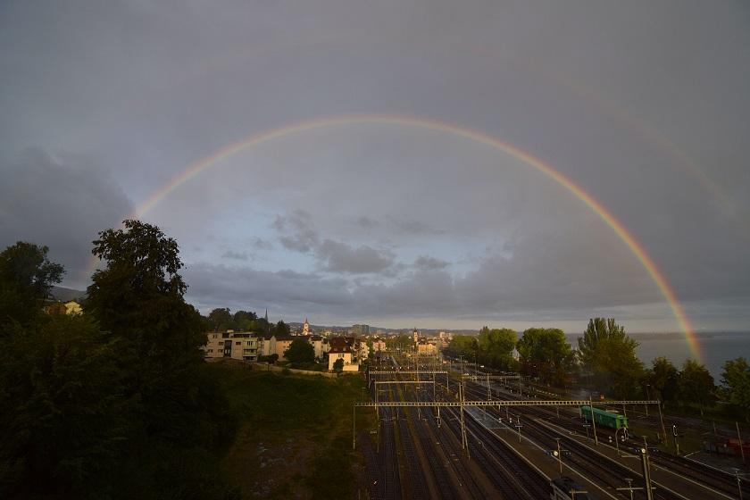 Doppelter Regenbogen Rorschach